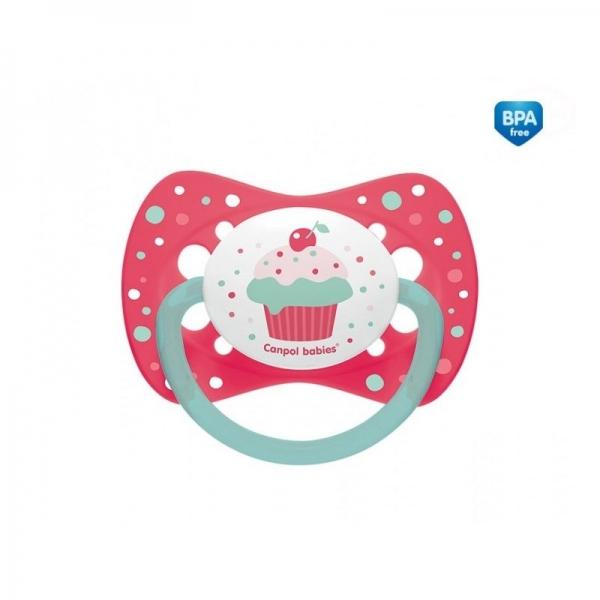 Cumlík symetrický Cupcake 6-18 B - ružový-6/18měsíců