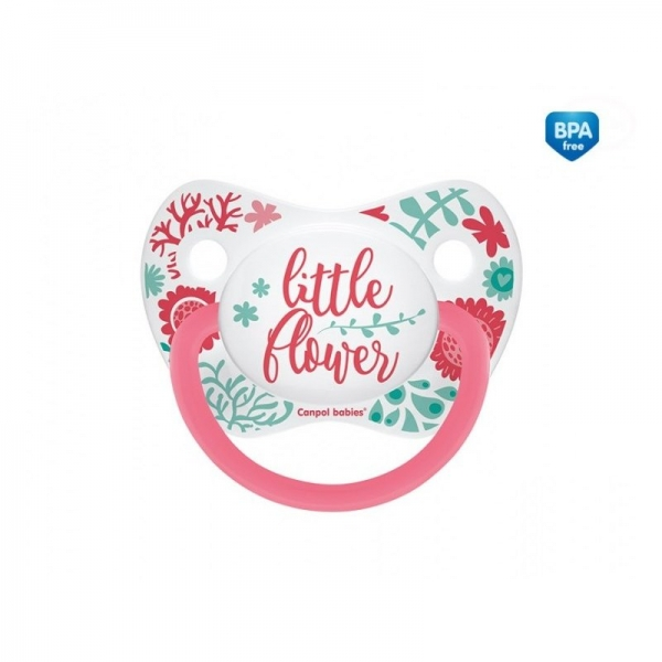 Canpol babies Cumlík anatomický Little Flower 18m+ C - ružový