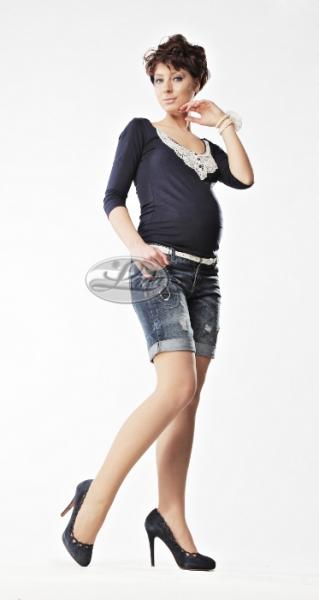 Tehotenské silonky pod bruško - čierne