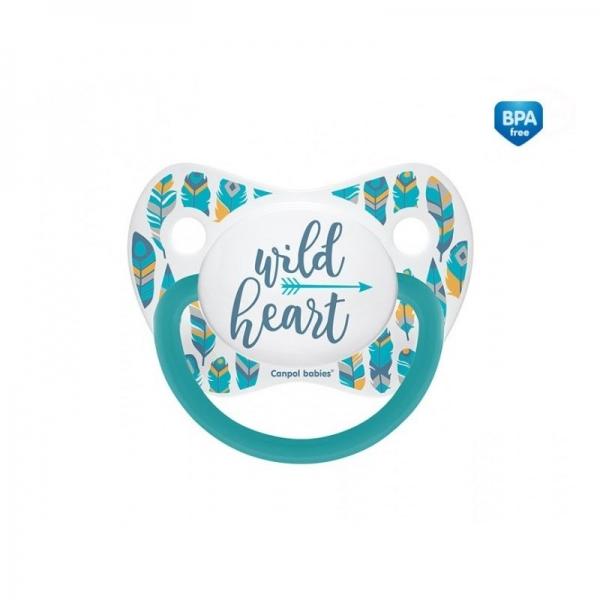 Cumlík anatomický Wild Heart 18m+ C - tyrkysový-18m+