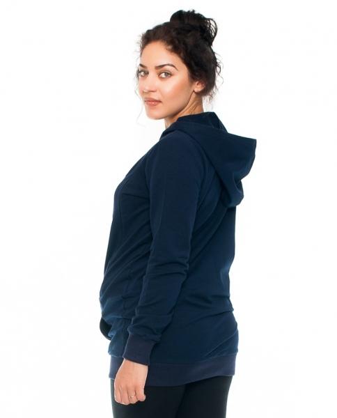 Tehotenské a dojčiace tričko/mikina Mom Boss, dlhý rukáv, granat