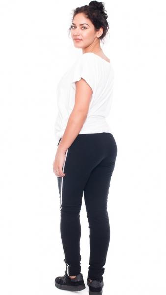 Be MaaMaa Tehotenské tepláky /nohavice Tommy, čierne, veľ. XL