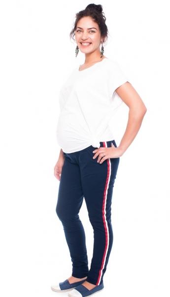 Be MaaMaa Tehotenské tepláky /nohavice Tommy, granátové, veľ. M-#Velikosti těh. moda;M (38)
