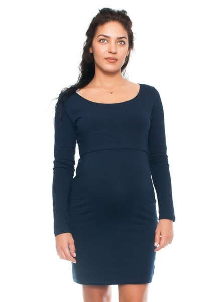 Elegantné tehotenské a dojčiace šaty Aszka - granat