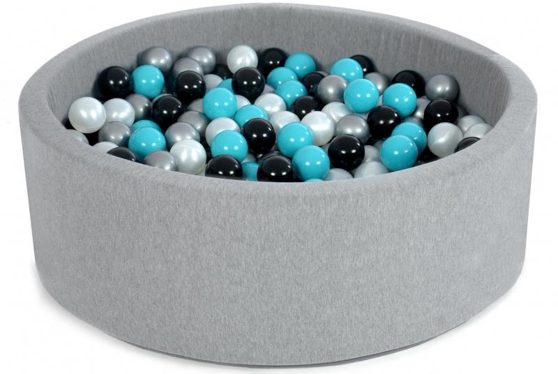 Bazen pre děti 90x40cm + 200 balónků - black tuti