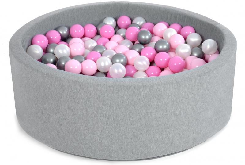 NELLYS Bazen pre deti 90x40cm + 200 balónikov - pipi pink