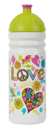 Zdravá fľaša - 0,7 l - Hippies - biela