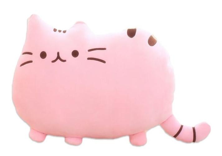 PUSHEEN Kočka - dekoračný vankúš 30x40cm, růžová