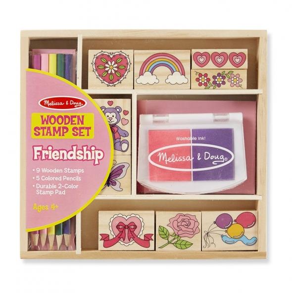 Drevené pečiatky v krabici - Priateľstvo