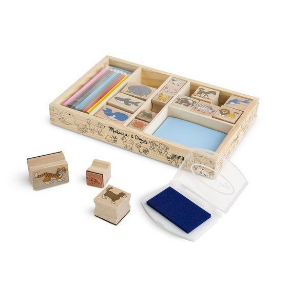 Drevené pečiatky v krabici - Animals