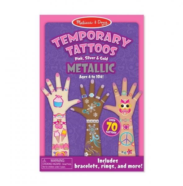 Melissa&Doug Detské metalické tetovanie