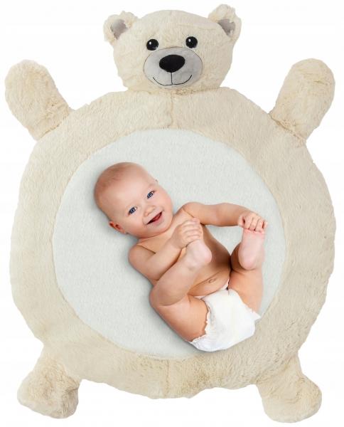 Plyšová hracia deka, podložka 67x78x5cm - Medvedík