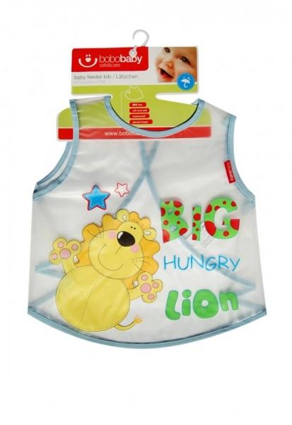 BOBO BABY Detská zásterka lev - modrý
