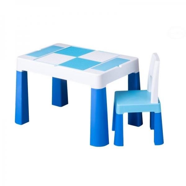 Tega Baby Sada nábytku pre deti Multifun - stolček a stolička - modrá