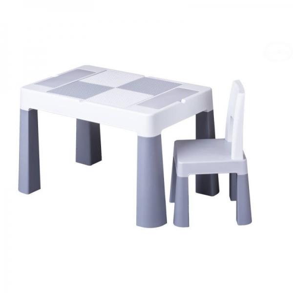 Tega Baby Sada nábytku pre deti Multifun - stolček a stolička - sivá