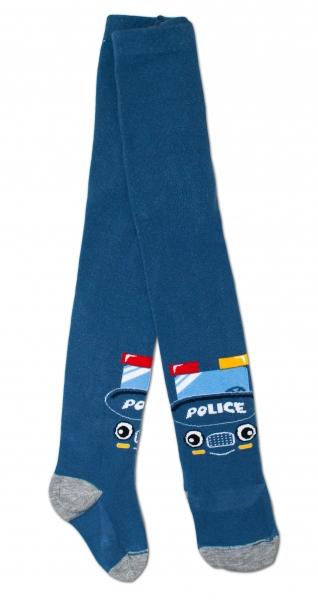 Bavlnené pančucháče - Polícia tm. modré, veľ. 92/98-92/98