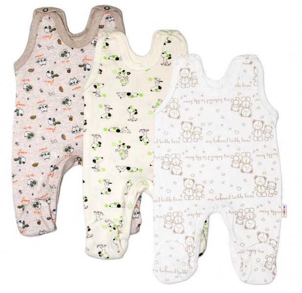 Výhodné balenie 3ks - dojčenské dupačky - chlapec, veľ. 62-62 (2-3m)