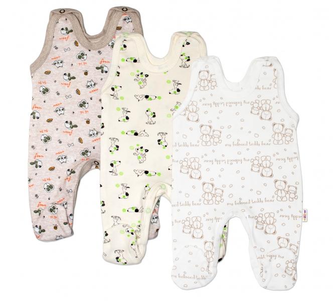 Výhodné balenie 3ks - dojčenské dupačky - chlapec, veľ. 68-68 (4-6m)