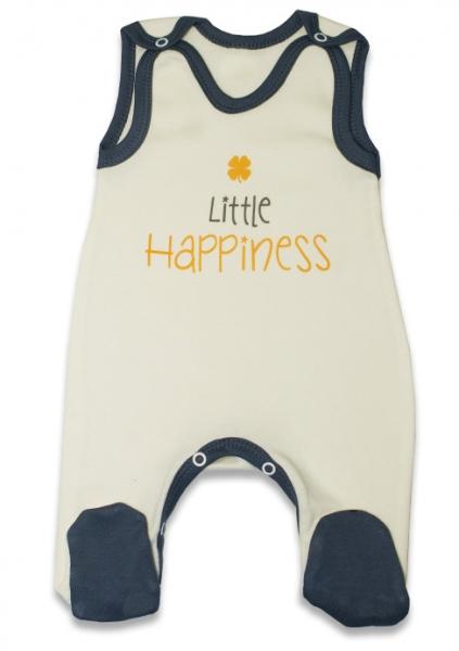 Dojčenské bavlnené dupačky, Malé Šťastie - žlté, veľ. 74