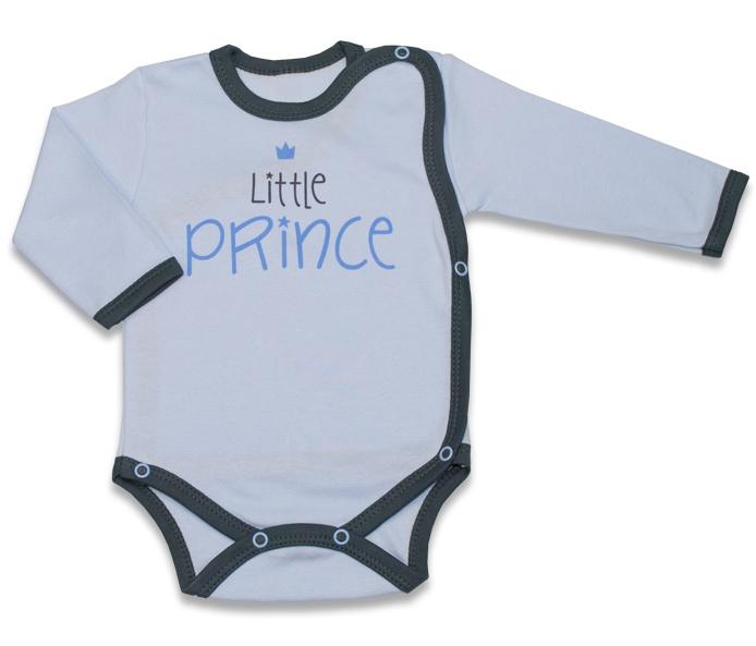 Body dlhý rukáv, zapínanie bokom Malý Princ - modré-56 (1-2m)