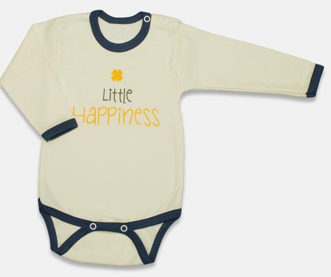 Body dlhý rukáv, Malá Princezná - žlté-62 (2-3m)