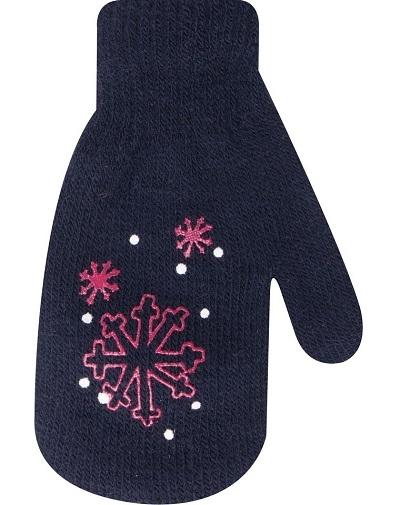 YO !  Dojčenské dievčenské akrylové rukavičky YO - granátové-10cm rukavičky