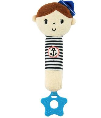 Edukačná hračka pískacia s hryzátkom Námorník - Chlapček