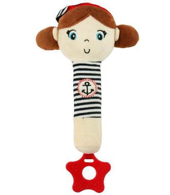 Edukačná hračka pískacia s hryzátkom Námorník - Dievčatko