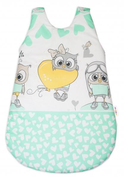 Baby Nellys Spacie vak Cute Owls - zelený