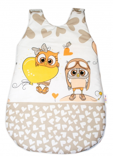 Baby Nellys Spacie vak Cute Owls - béžový