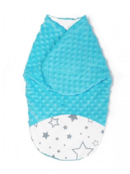 Zavinovačka, spacáček s Minky, 0-6m - Hviezdy a hviezdičky, Minky tyrkys