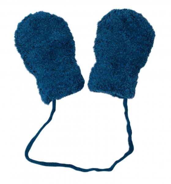 Zimné dojčenské froté rukavičky zo šňůrkou YO - granatové-9cm rukavičky