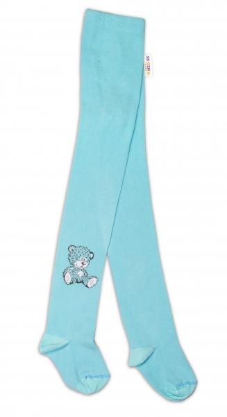 Bavlnené pančucháče - Sweet Teddy - mätové, veľ. 92/98-92/98