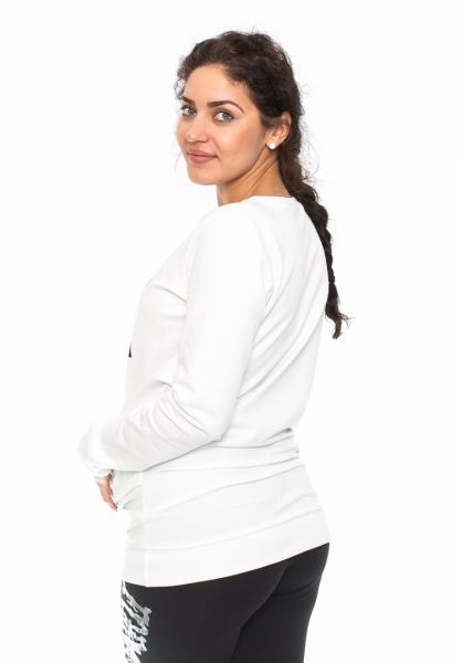 Tehotenské triko, mikina Renifer - biele