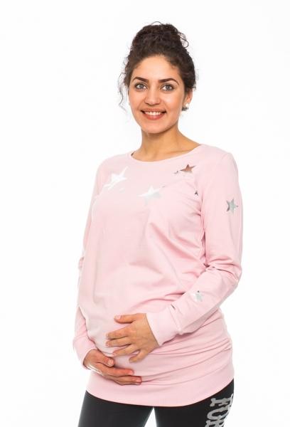 Tehotenské triko, mikina Renifer - ružová
