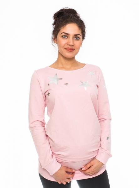 Be MaaMaa Tehotenské triko, mikina Renifer -rúžové, veľ. M