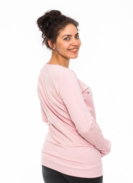 Be MaaMaa Tehotenské triko, mikina Renifer -rúžové, veľ. L