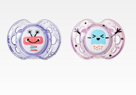 Cumlík Fun Style Príšerky 0-6 m - fialová / ružová-0/6 měsíců