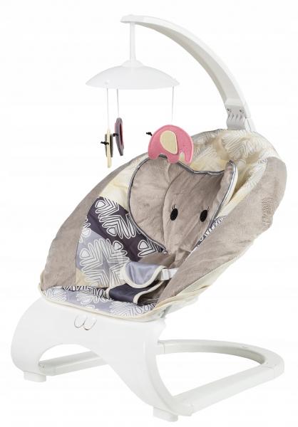 Dojčenské ležadlo s vibrácií a hudbou a kolotočom 3v1 - Slon