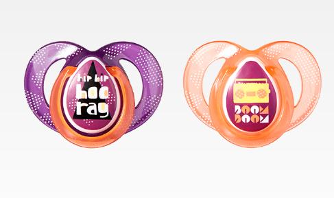 Cumlík Any Time 6-18m - fialová/oranžová-6/18měsíců