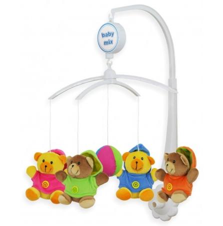 Kolotoč nad postieľku - Medvedíci v mikinkách