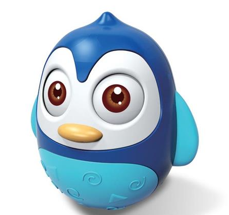 BABY MIX Roly Poly Tučniak - modrý