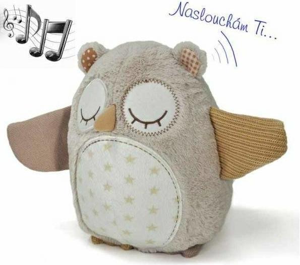 Spiaca sovička s melódiu a snímačom spánku