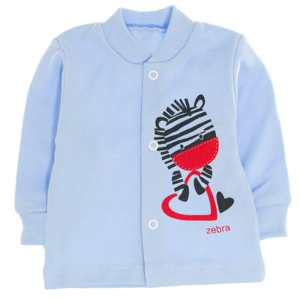 MBaby Bavlnená košieľka Zebra,veľ. 68 - modrá-68 (4-6m)