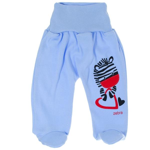 Bavlnené polodupačky Zebra - modré