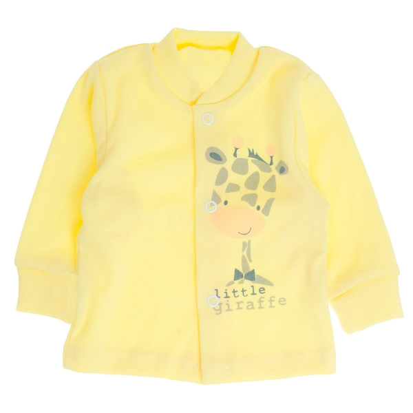 Bavlnená košieľka Žirafka, veľ. 68 - žltá-68 (4-6m)