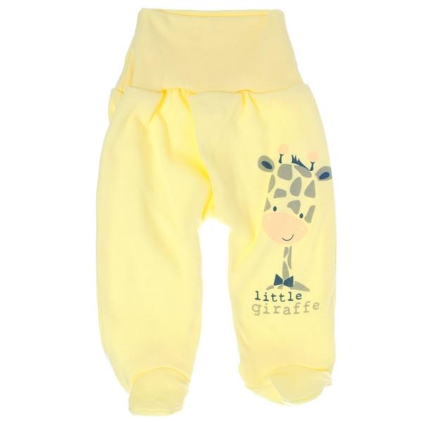 Bavlnené polodupačky Žirafka - žlté