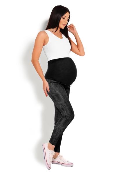 Tehotenské legíny - čierne veľ. S/M, L/XL