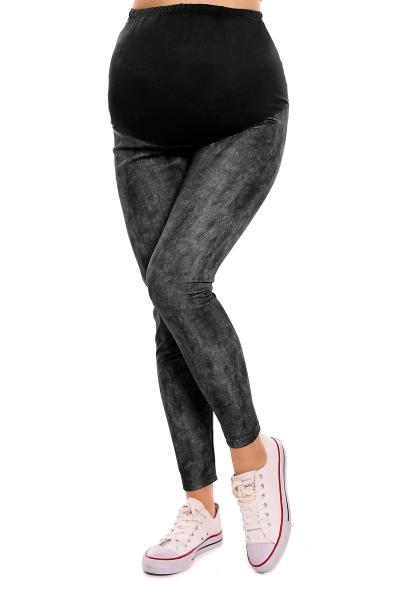 Be MaaMaa Těhotenské legíny - čierne veľ. L/XL, B19