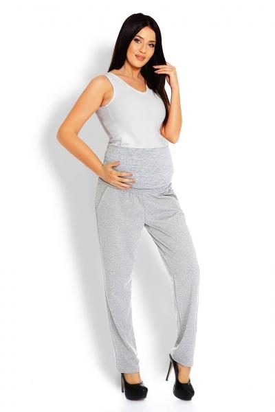Be MaaMaa Tehotenské nohavice / tepláky s vysokým pásom - sv. sivé, veľ. L/XL-L/XL